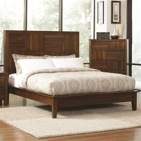 Wooden King Size Bed Coaster 202841ke Brown Eastern King Size Wood Bed A Sofa Furniture Outlet Los Angeles Ca