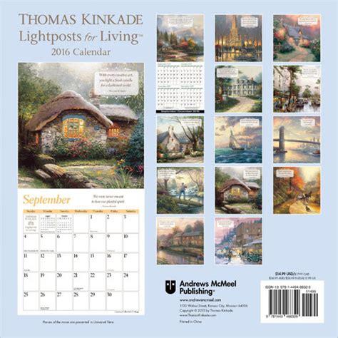 thomas kinkade desk calendar 2018 thomas kinkade lightposts for living calendars 2018 on