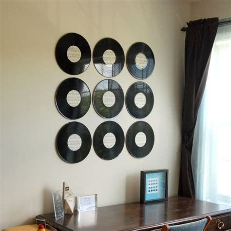 vinyl record room decor vinyl record wall diy it forward
