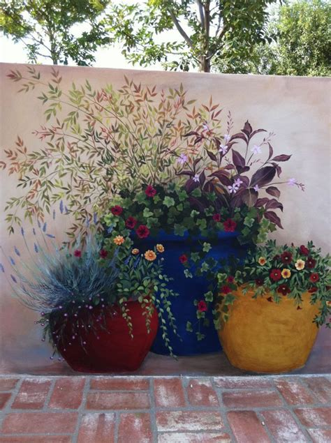 painted mural so pretty painting garden mural