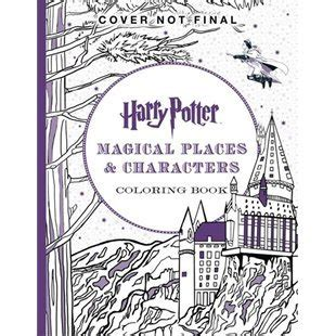harry potter coloring book goodreads harry potter colouring book 3 magical places characters