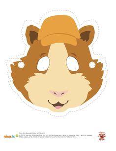 printable hamster mask template masketeers printable masks printable hamster mask