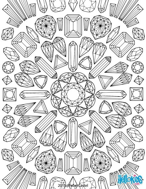 s gems coloring book books coloriages mandala graphique fr hellokids