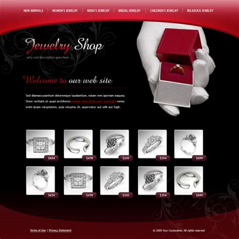css templates for jewellery website rings model xhtml template 6079 jewelry website