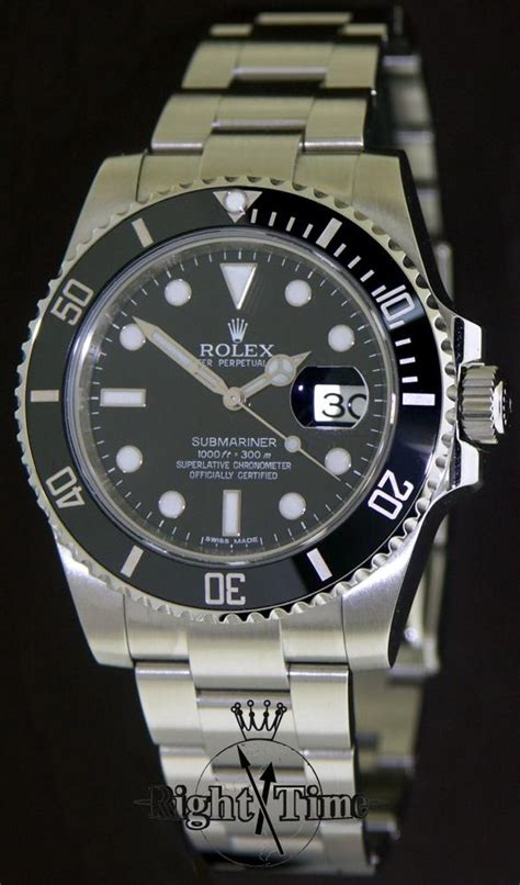 rolex submariner with date 116610 pre owned mens watches
