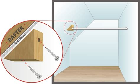 Installing A Closet Rod by Installing Closet Rod On An Angles Wall