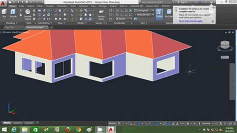 home design software for beginners autocad 3d house modeling tutorial beginner basic using