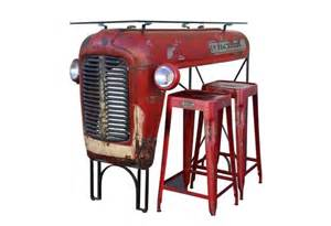Upcycled Furniture Company - upcycled massey ferguson tractor table adds rustic charm to any home bar homecrux