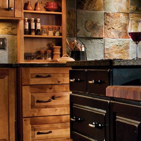 black rustic kitchen cabinets by kraftmaid kitchen kraftmaid rustic birch birch praline cherry vintage