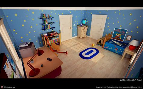 toy story andys bedroom andy s room toy story by wellington ciardulo 3d