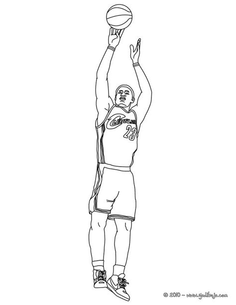 nba coloring pages of lebron james dibujos para colorear lebron james disparando es