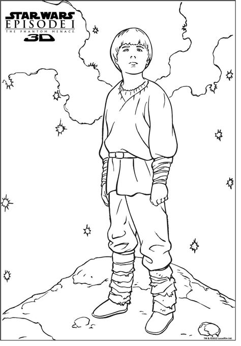 free coloring pages of anakin skywalker