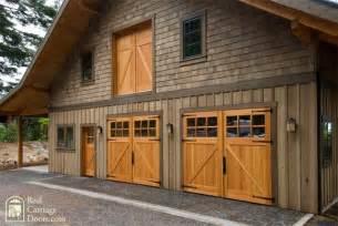 Barn Garage Doors Classic Z Brace Carriage Doors With Side Entry Loft Door