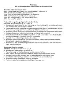 restaurant server resume examples resume addendum