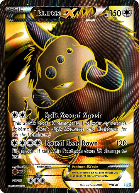 kyogre cards templates 128 tauros ex by aschefield101 on deviantart