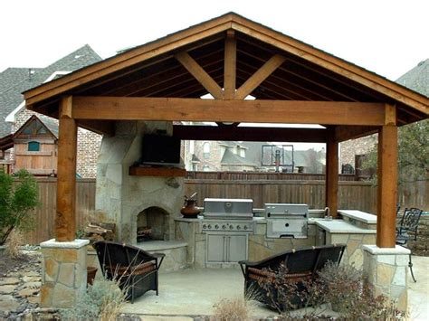 gazebo outdoor kitchen vaulted wooden gazebo for modern outdoor kitchen ideas