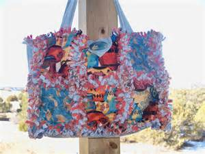 rag quilt style purse tote bag by justmemomandme on