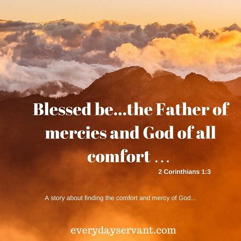 god is a god of comfort god of all comfort everyday servant
