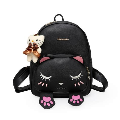 cat backpack cat bag students school backpack for teenagers back