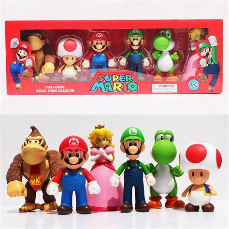 Diskon Figure Mario Bross Luigi mario bros toad mario luigi yoshi kong