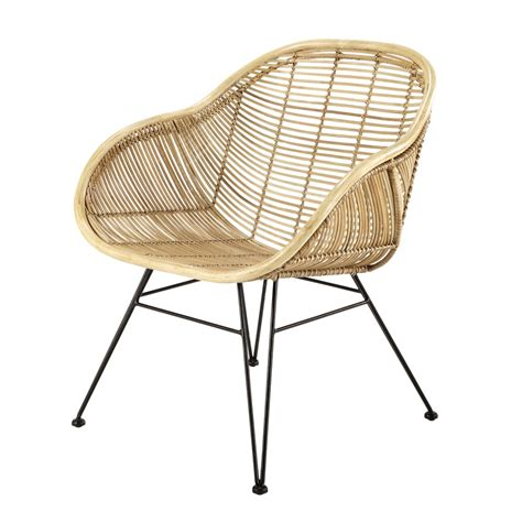 Furniture Armchairs by Rattan Armchair Pitaya Maisons Du Monde
