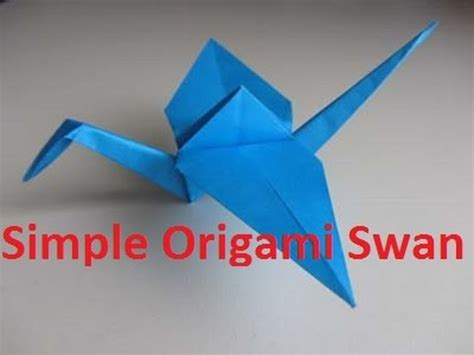 Make A Swan Out Of Paper - how to make origami swan crane swan crane craft paper