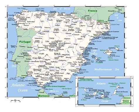 map of spain with cities large map of spain with major cities spain europe