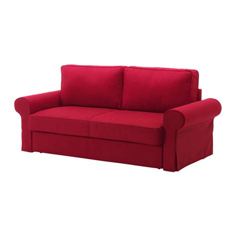 red ikea couch backabro three seat sofa bed nordvalla red ikea