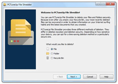 shred folder pctuneup free file shredder free file shredder software