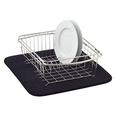 Dish Drainer Mat by Black Dish Drying Mat The Container Store