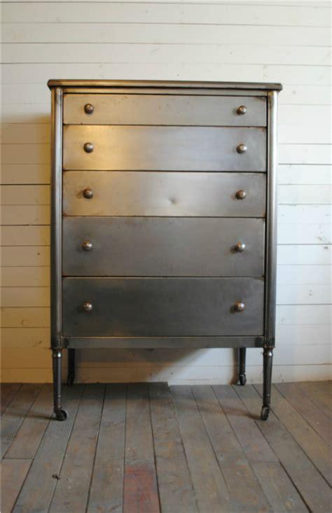 Antique Metal Dresser by Vintage Steel Highboy Dresser Phylum Furniture