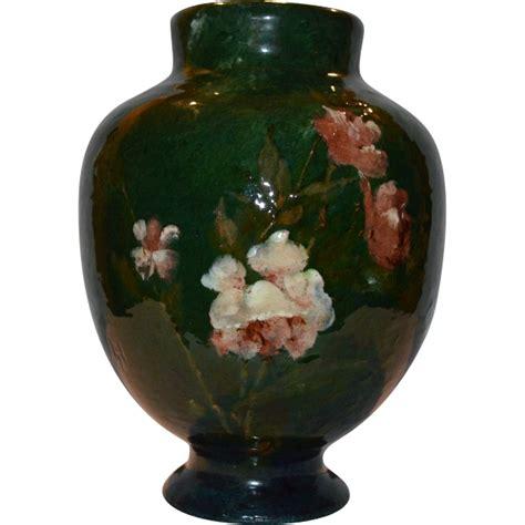 haviland co terra cotta pottery vase impressionist