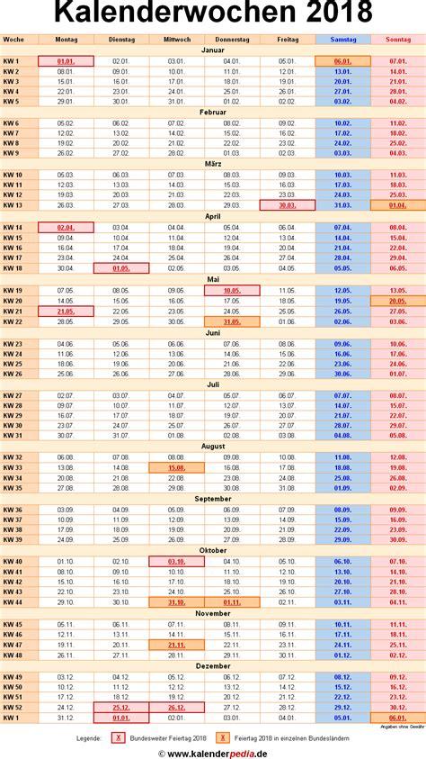 Kalender F R 2018 Kalender 2018 Mit Kw Pdf 28 Images Kalender 2018 214