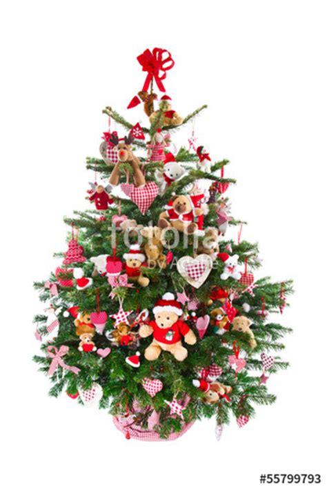 quot weihnachtsbaum isoliert in rot geschm 252 ckt mit teddyb 228 ren