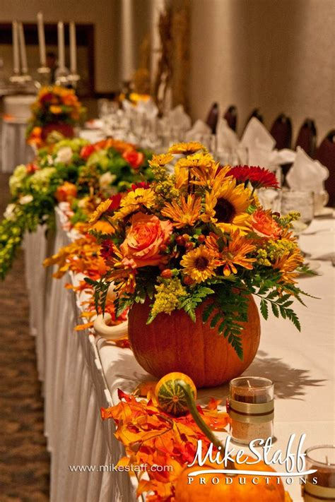 pumpkin wedding centerpieces variety there is no rule