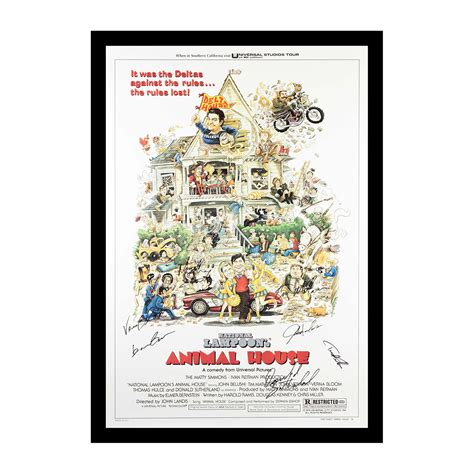 animal house movie cast animal house signed movie poster cast signed comedy merchandise touch of modern