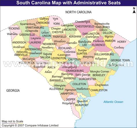 south carolina county map with cities south carolina map and south carolina satellite images