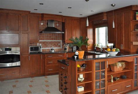 couleur pour armoire de cuisine cuisine bois merisier wraste