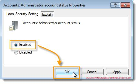 reset password windows xp administrator account enable disable the local hidden administrator account