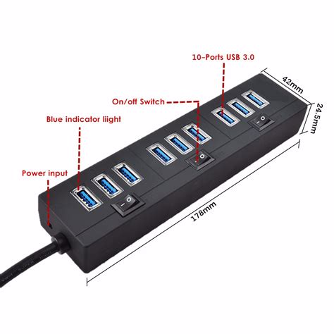 Jellico Usb Charger Hub 5 Port Power Adapter ele 5v 2a powered usb hub 3 0 hub 10 charging ports with power adapter on switches alex nld