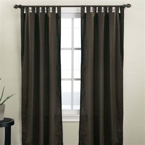 tab curtain panels hanging back tab curtains home decorations