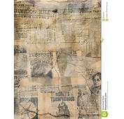 Grungy Antique Newspaper Paper Collage Stock Photo  Image