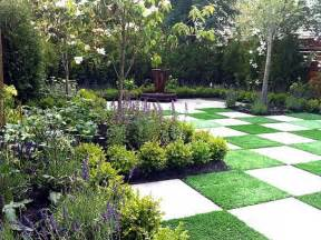 landscaping gardening grass tiles backyard ideas for