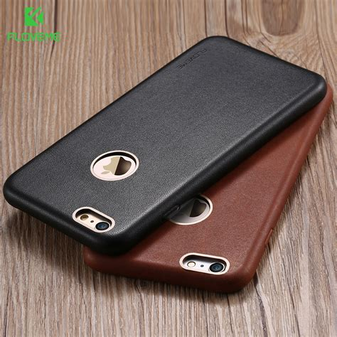 Original Leather For Iphone 7 Plus floveme for iphone 6 6s 6s plus 7 plus cases genuine leather metal logo ultra cover for