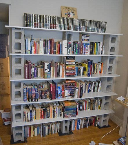 cheap bookshelves made with recycled boards this would be the eco friendly shelving i d paint the cinder