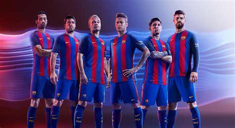Barcelona Uniform | barcelona 16 17 home kit released footy headlines