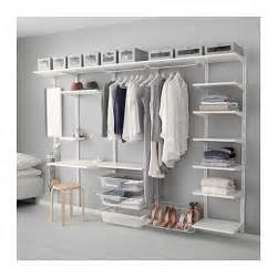 Ikea Wall Hanging Storage Algot Wall Upright Shelf Triple Hook White 278x41x199 Cm