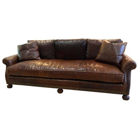 treatment couches for sale ralph lauren leather sofa with nail head treatment 20th