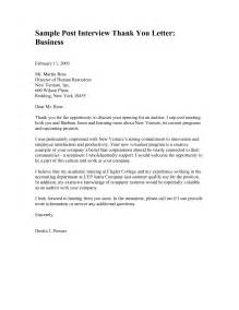 Business Thank You Letter Format Exle Sle Thank You Letter Format Best Template Collection