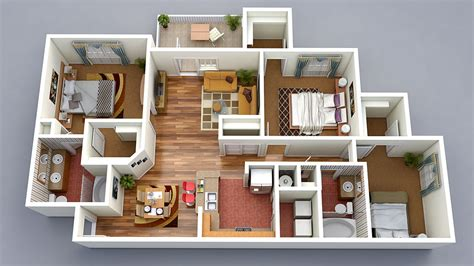 free 3 bedrooms house design 3d floor plans 3d home design free 3d models
